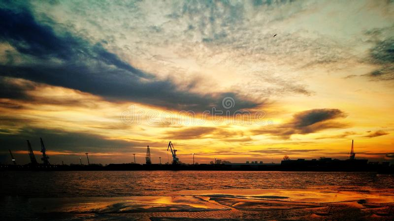 Marin- port arkivfoton