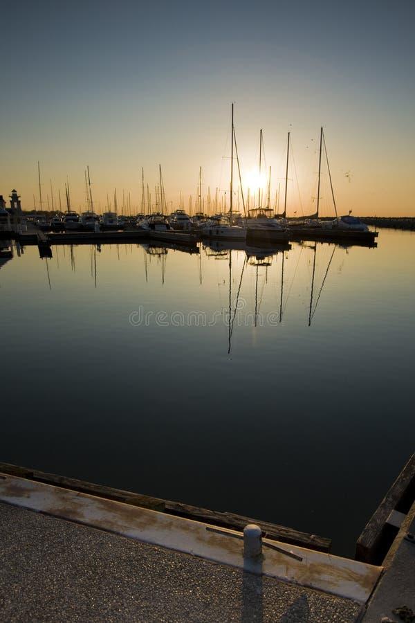 marina över soluppgång arkivfoton