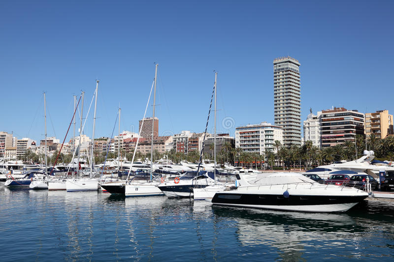 Download Marina of Alicante, Spain editorial image. Image of white - 26457595