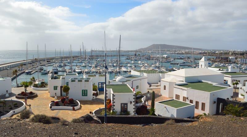 Marina area of Playa Blanca Lanzarote royalty free stock image