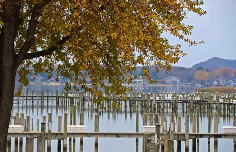 Download Marina in Autumn stock photo. Image of autumn, slip, leaf - 22216762