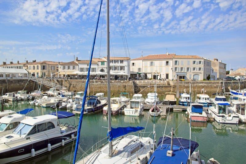 Marina av helgonet Martin de Re (La Rochelle, Frankrike) royaltyfria foton