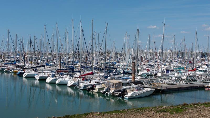 Marina av La Rochelle royaltyfria bilder