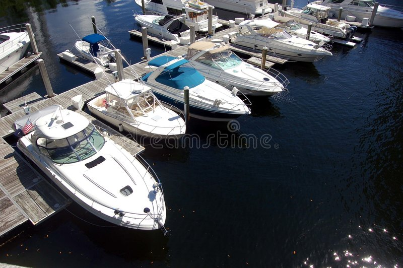 Marina in Aventura,Florida stock photo