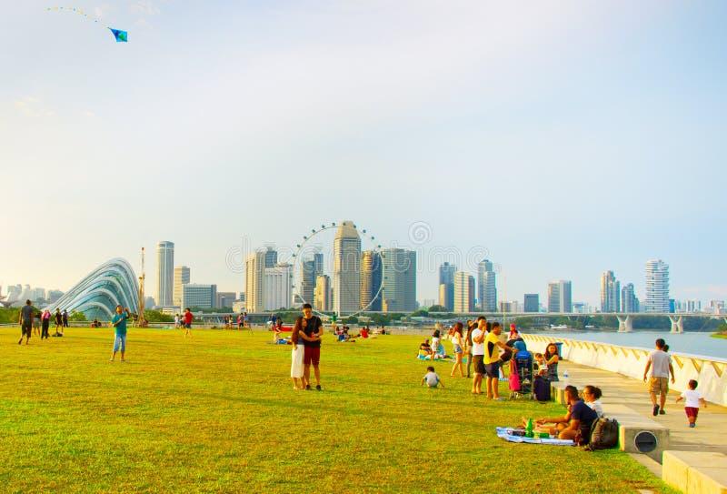 Marina Barrage, Singapore immagine stock libera da diritti