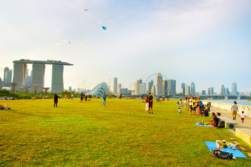 Marina Barrage, Singapore royalty free stock photos