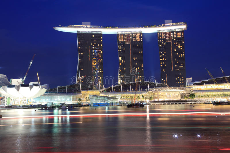Download Marina Bay Sands stock photo. Image of evening, architecture - 21385468