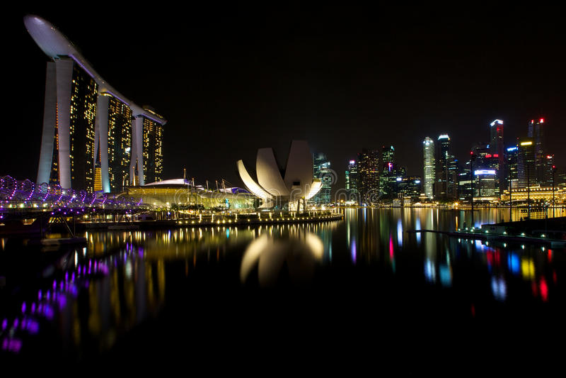 Marina Bay Sands lizenzfreie stockfotografie