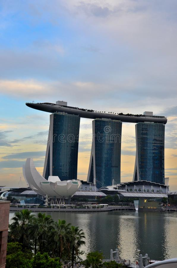 Marina Bay Sands Art Science Museum And Singapore River Editorial Photo