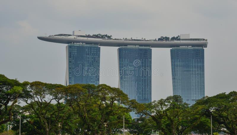 Marina Bay Sands Building em Singapura foto de stock royalty free