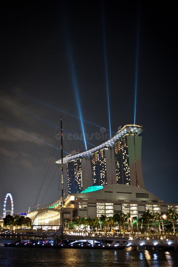 Download Marina Bay Sands During Grand Prix Stock Image - Image: 21819335