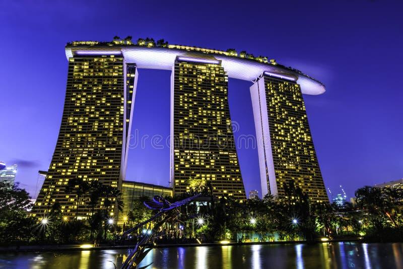Marina Bay Sands Hotel royaltyfri bild