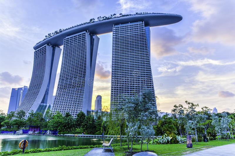 Marina Bay Sands Hotel photographie stock libre de droits