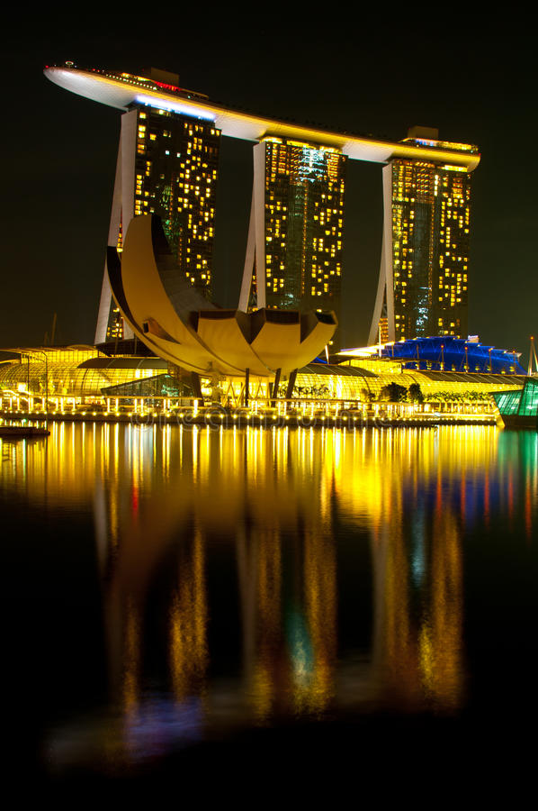 Marina Bay Sands Hotel and Casino royalty free stock photography