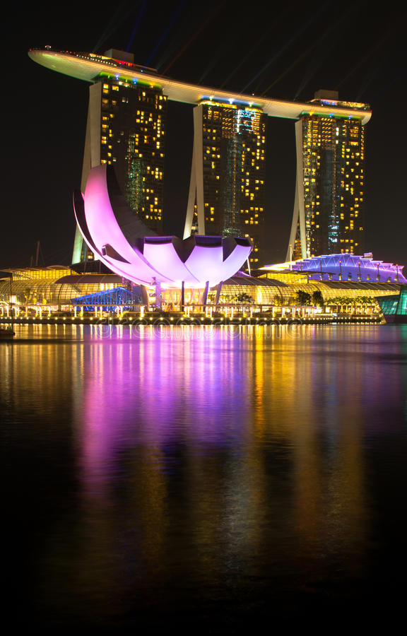 Marina Bay Sands Hotel and Casino royalty free stock images