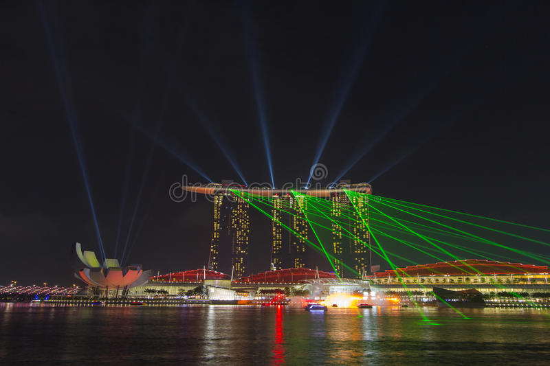Download Marina Bay Sands Hotel With Dancing Laser Show Editorial Photo - Image: 33518916