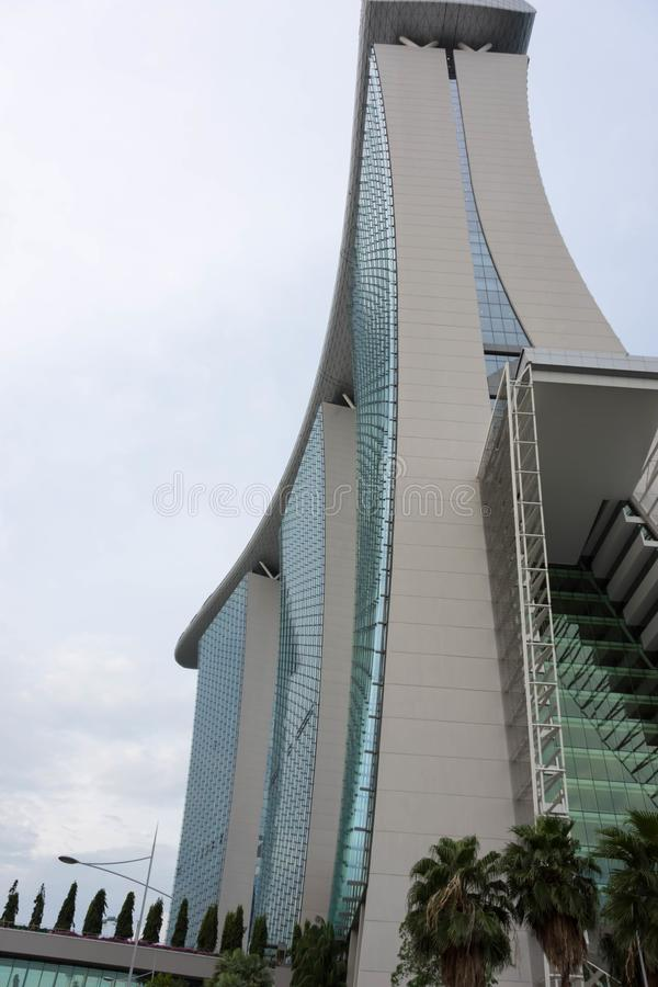 Marina Bay Sands-Hotelansicht Singapur 15. Dezember 2017 stockfotos