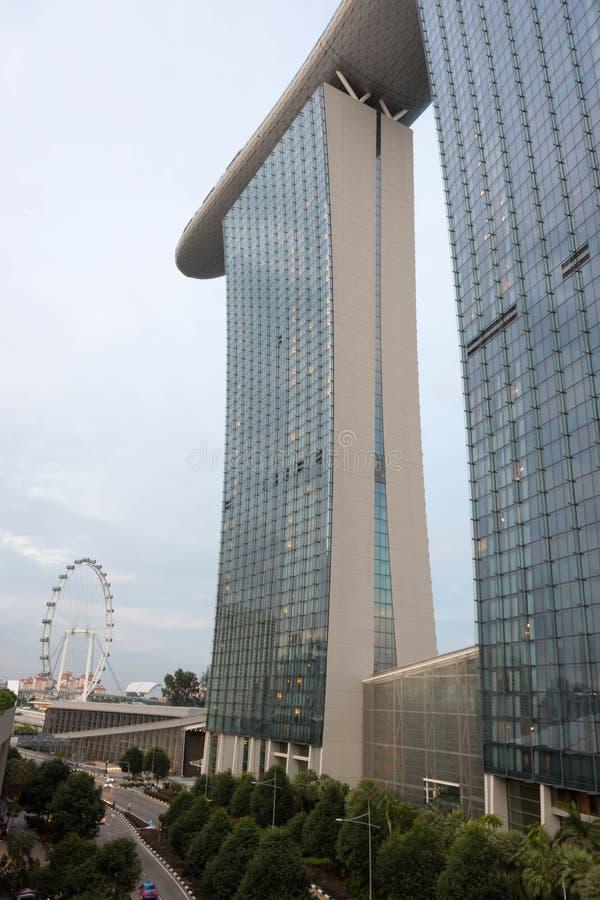 Marina Bay Sands-Hotelansicht Singapur 15. Dezember 2017 stockbilder