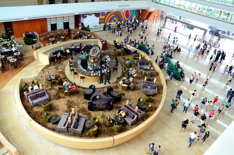 Marina Bay Sands-Hotellobby: Singapur stockbild