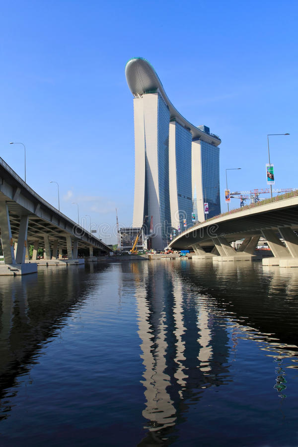 Marina Bay Sands Integrated Resort,Singapore stock photography