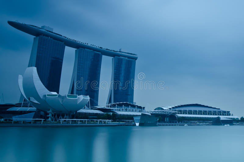 Marina Bay Sands Integrated Resort and Waterfront stock photos