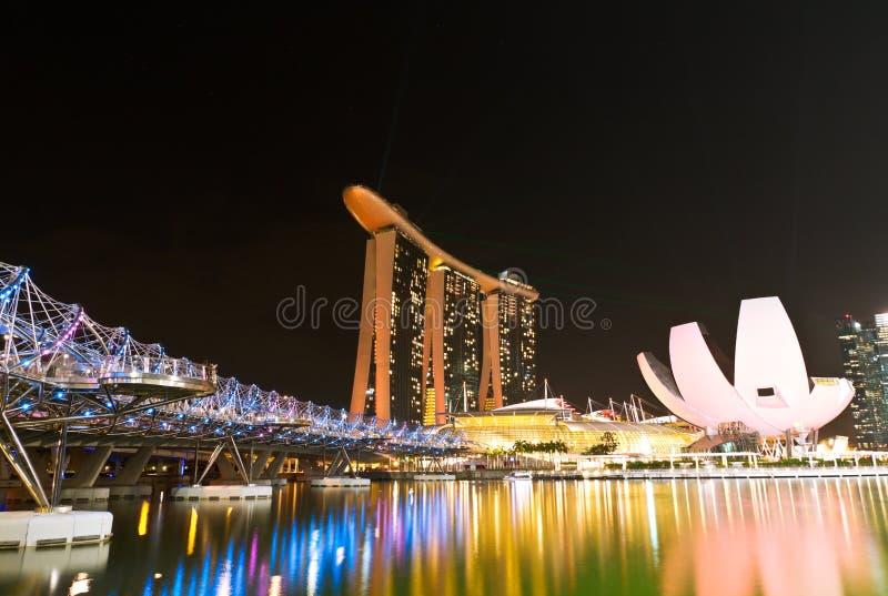 Marina Bay Sands Landscape Singapore imagem de stock