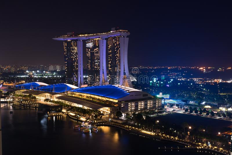 Marina Bay Sands-luxehotel stock foto's