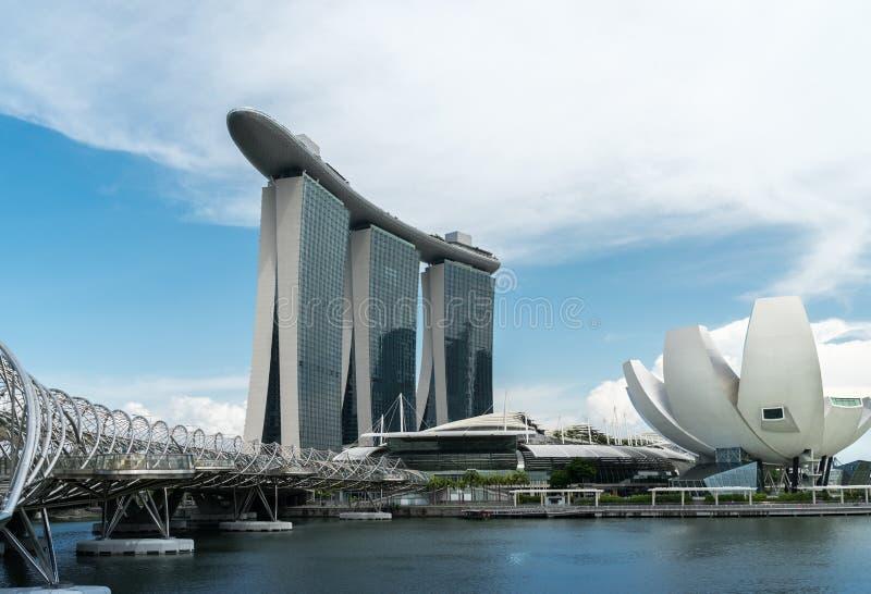 Marina Bay Sands-Luxushotel stockbild