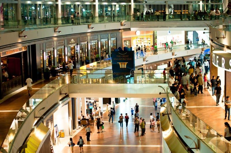 Marina Bay Sands Shopping Mall stock images