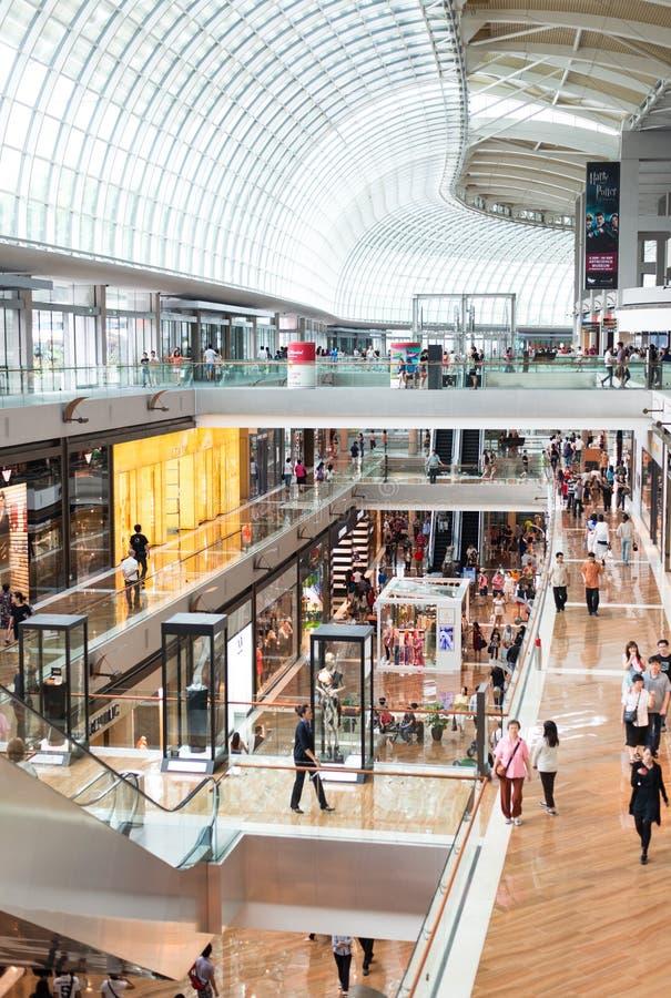 Marina Bay Sands Shopping Mall royalty free stock images