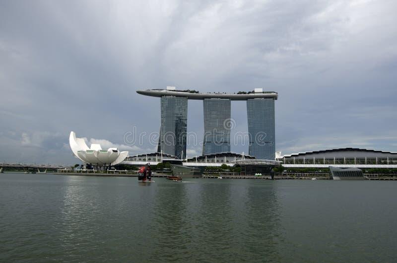 Marina Bay Sands Singapore hotell arkivfoto