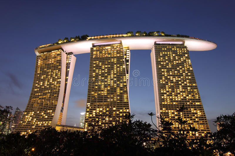 Marina Bay Sands, Singapore. Marina Bay Sands, the integrated resort casino and shopping center in Singapore stock photography