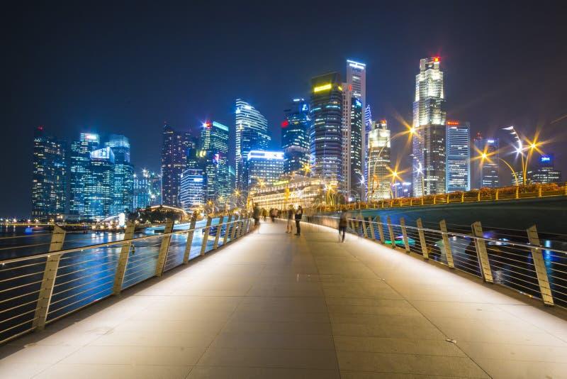 Marina bay sands, SINGAPORE OCTOBER 12, 2015: beautiful walkway stock photos