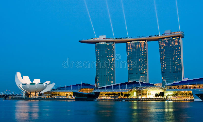Marina Bay Singapore stock photo