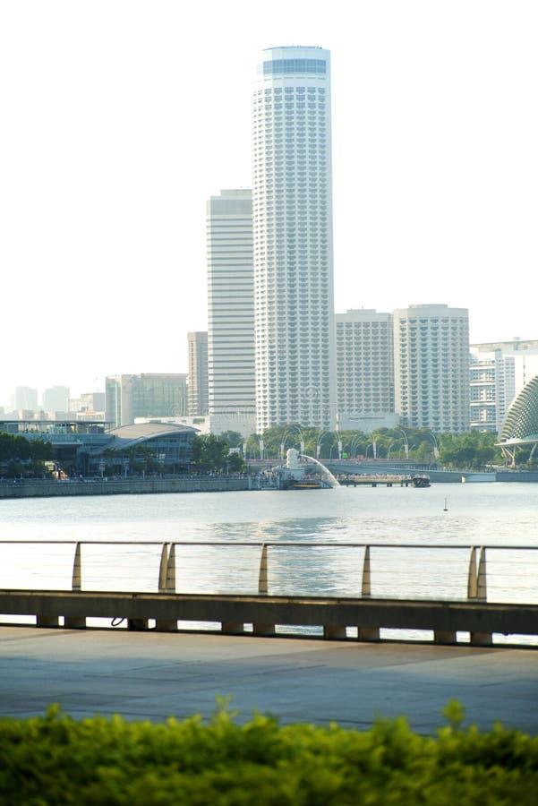Marina Bay Skyline stock photography