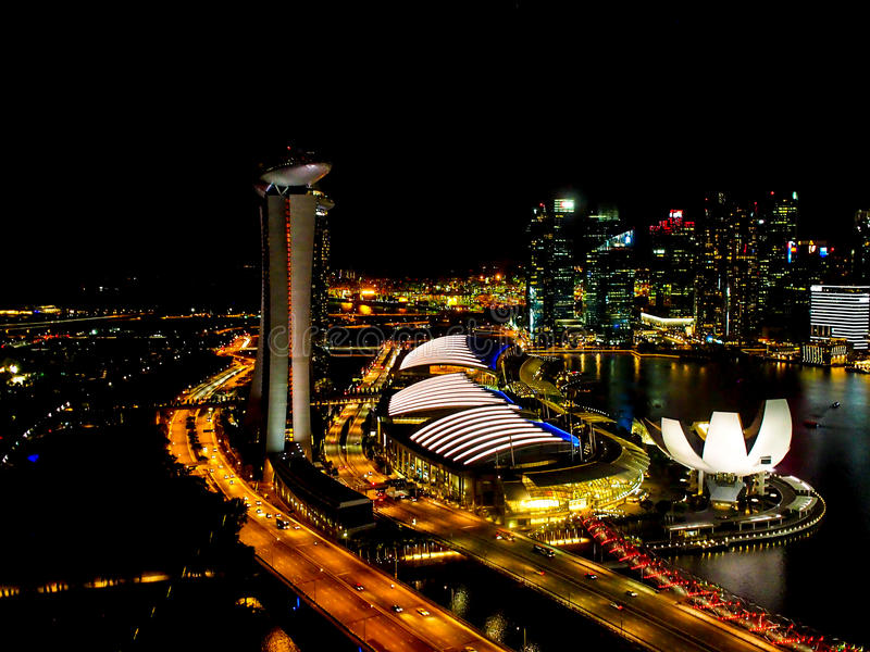 Marina Bay from the top royalty free stock image