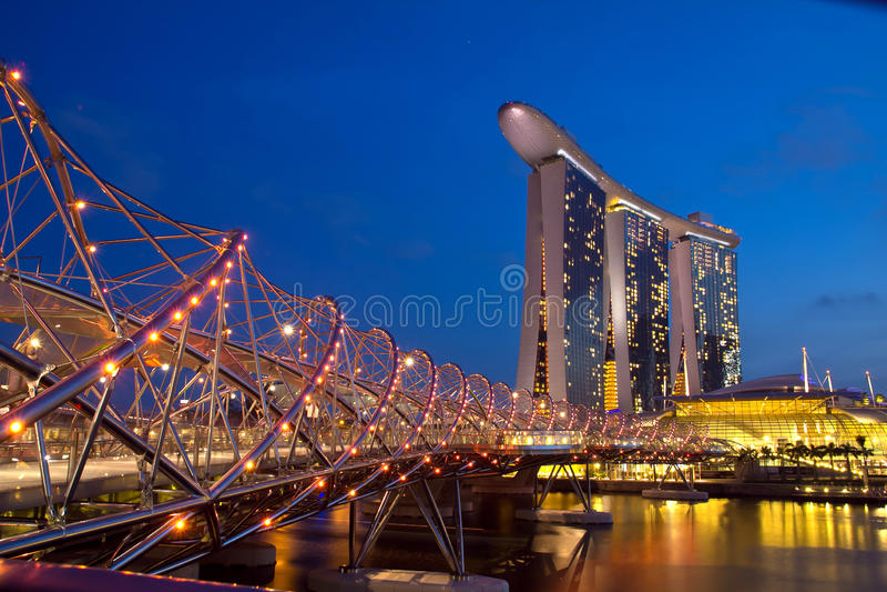 Download At The Marina Bay Wate Stock Photo - Image: 26915340