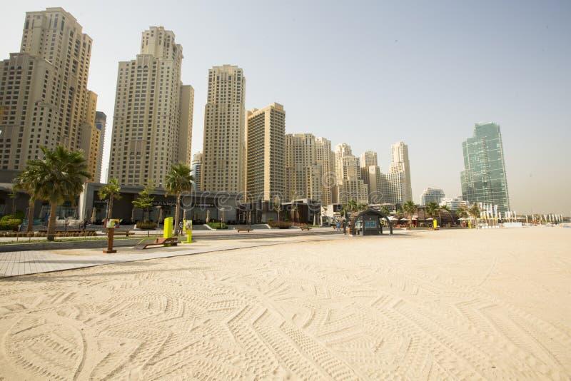 Marina Beach en Dubai imágenes de archivo libres de regalías