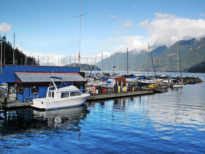 Marina with Boats royalty free stock images