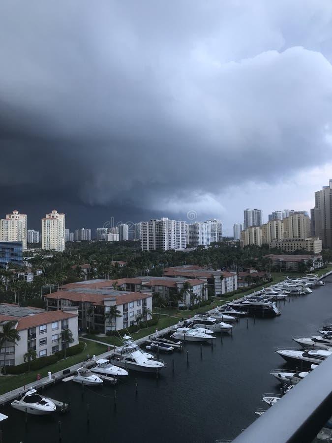 Miami storm royalty free stock image