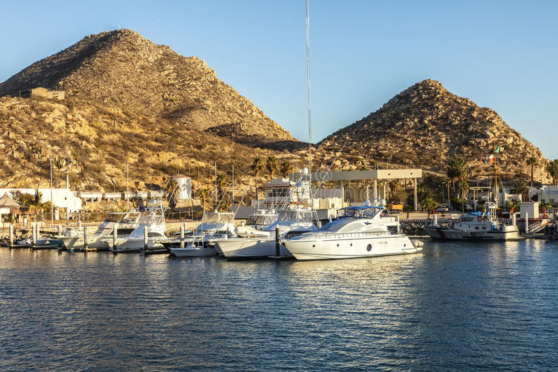 Marina in Cabo San Lucas stock image