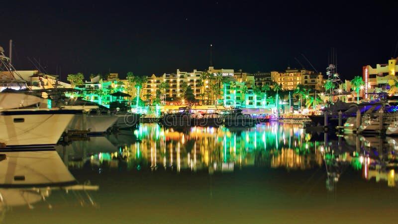 Marina chez Cabo San Lucas Mexico Night photographie stock libre de droits