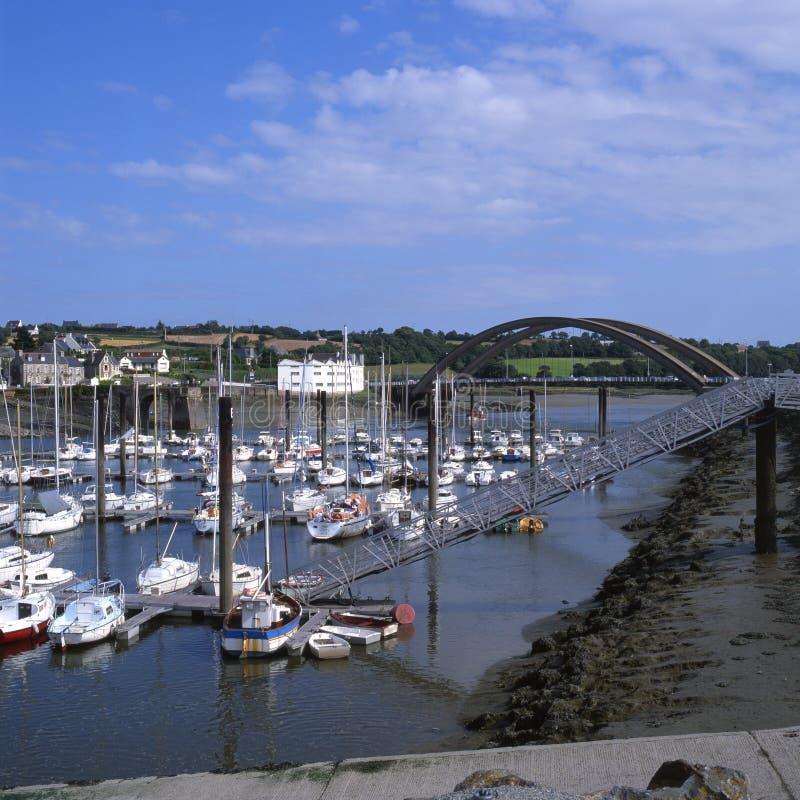 Marina chez Treguier. Brittany. La France photos libres de droits