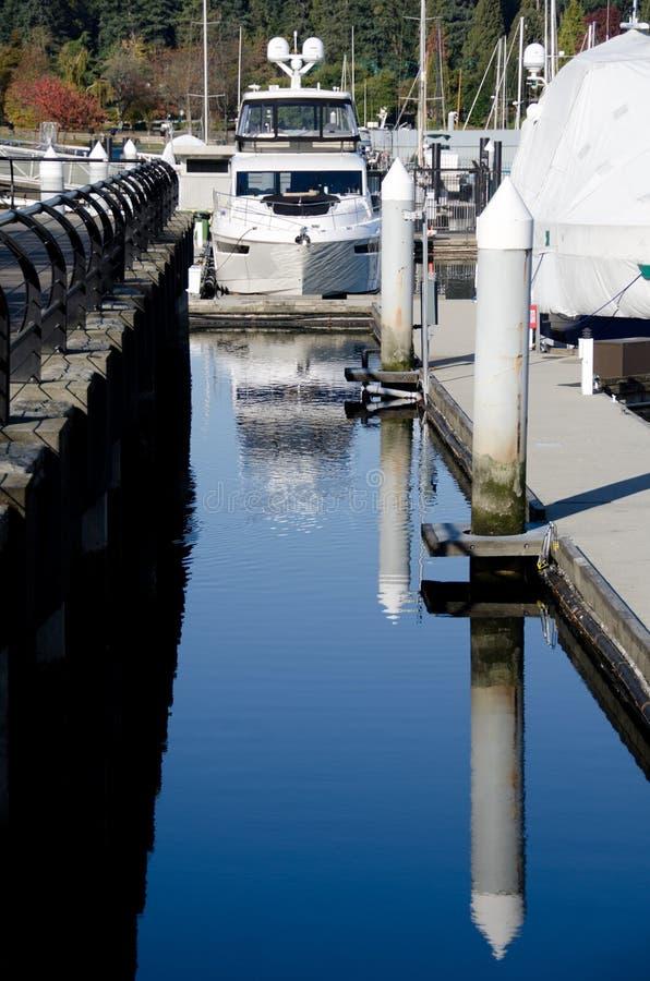 Marina at Coal harbour on a sunny morning - 1 royalty free stock photos