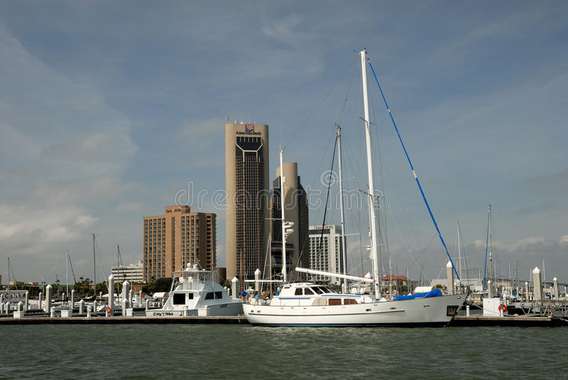 Marina in Corpus Christi, Texas stock photos
