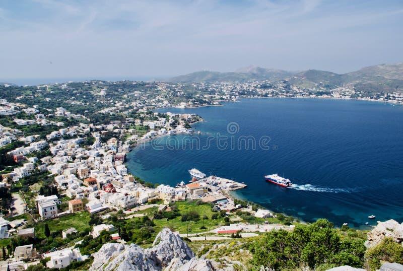 Marina d'Agia et Alinda, Leros, Dodecanese, Grèce, l'Europe photos stock