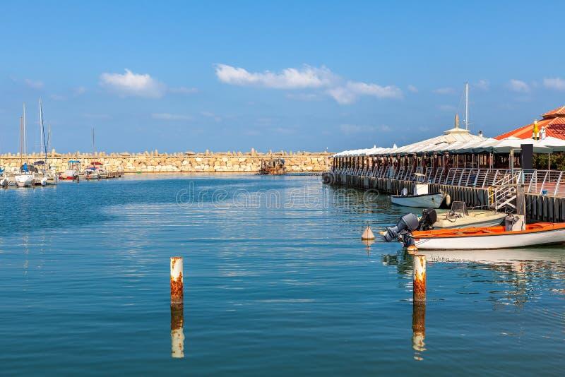 Marina d'Ashkelon, Israël image stock