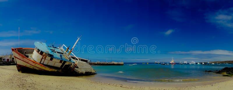 Marina dans des îles Equateur de San Cristobal Galapagos photos stock