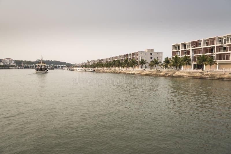Marina de baie de Halong photo libre de droits