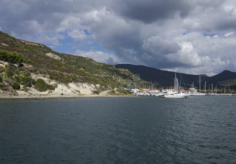 Marina de Bosa, Sardaigne, Italie photo stock